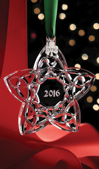 Cashs Ireland, Crystal 2016 Celtic Trinity Star Ornament