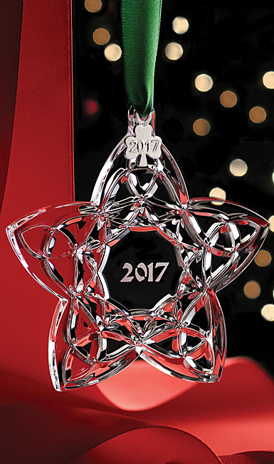 Cashs Ireland, Celtic Trinity Star 2017 Crystal Ornament