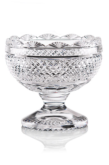 Cashs Ireland, Art Collection, Scalloped Footed Sugar Crystal Bowl, Limited Edition
