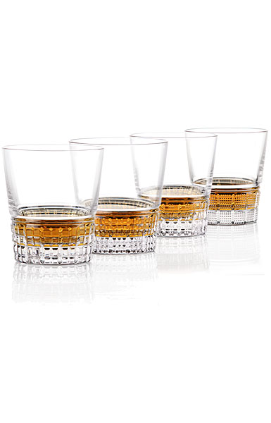 Cashs Ireland, Scottish Tartan Single Malt Whiskey Glasses, Set of Four