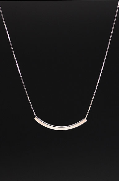 Cashs Ireland, Sterling Silver Square Tube Necklace