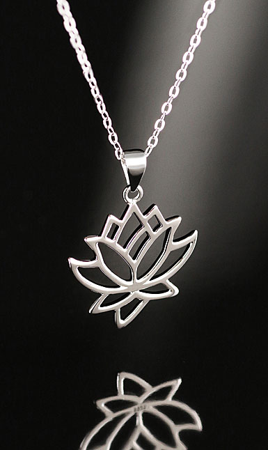 Cashs Ireland, Sterling Silver Waterlilly Pendant Necklace