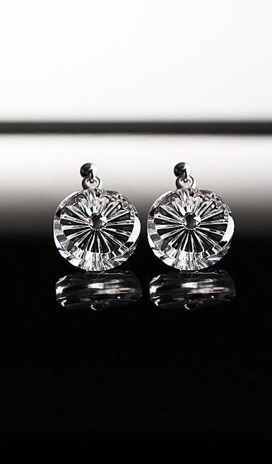 Cashs Ireland, Crystal Wild Irish Rose Pierced Earrings Pair