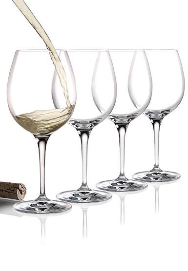 Cashs Ireland, Wine Cru Chardonnay Crystal Glasses, Set of Four