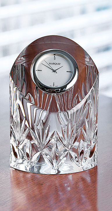 Marquis by Waterford Crystal, Caprice Medium Crystal Clock