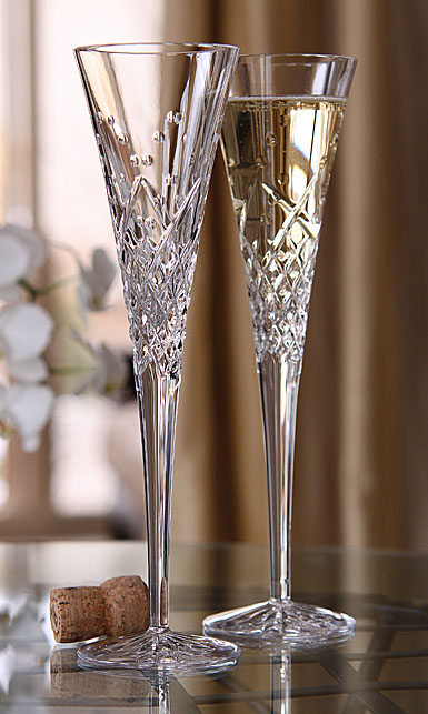 Waterford Crystal, Wishes Happy Celebrations Crystal Flutes, Pair