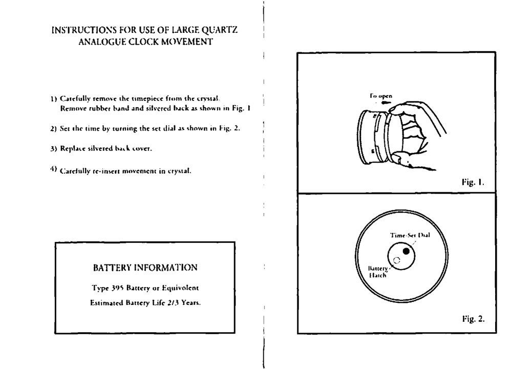 Waterford Crystal Clocks Instructions