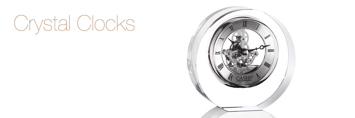 Crystal Touch and Go Clock 2 34W x 5 18H Engraved Personalized  STG205