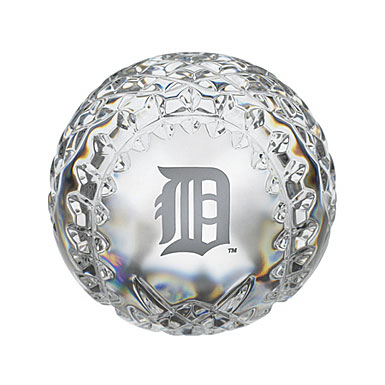 Waterford MLB Detroit Tigers Crystal Baseball Paperweight