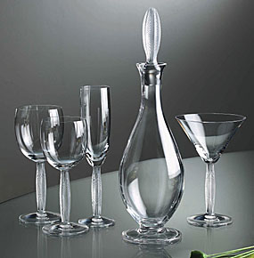 """Lalique Diamant Water Glass Set of 2 - 7 2/5"""""""