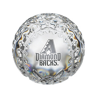 Waterford Arizona Diamondbacks Crystal Baseball