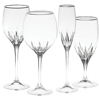 Vera Wang Wedgwood, Duchesse Platinum Crystal Goblet, Single