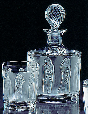 Lalique Crystal, Femmes Antiques Crystal Whiskey Tumbler