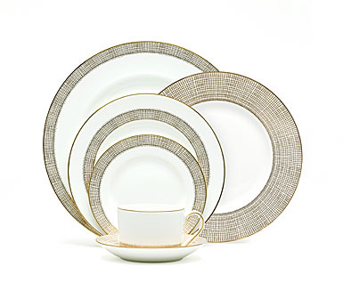 Vera Wang Wedgwood China Gilded Weave, 5 Piece Place Setting