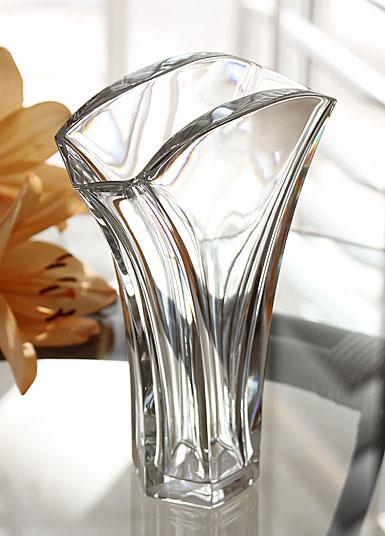 "Baccarat Crystal, Ginkgo 7 1/8"" Crystal Vase"