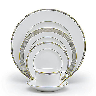 Vera Wang Wedgwood China Golden Grosgrain, 5 Piece Place Setting