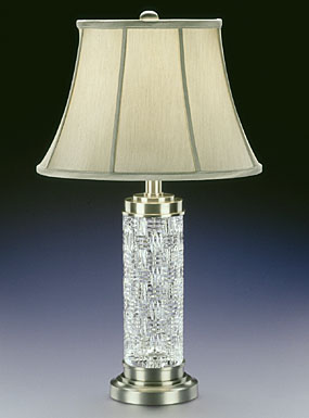 "Waterford Crystal, Grafix 30 1/2"" Crystal Lamp"