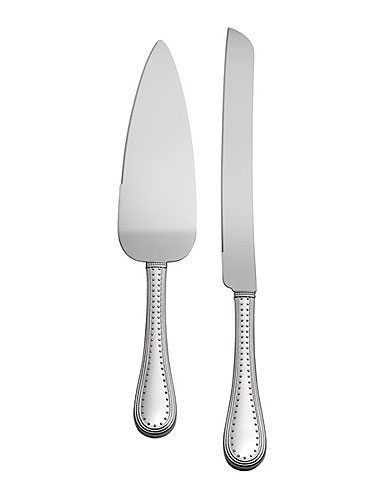 Vera Wang Wedgwood Grosgrain Silver Cake Knife and Server Set