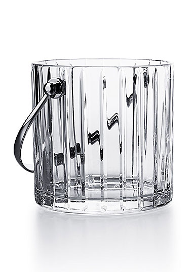 Baccarat Crystal, Harmonie Ice Bucket with Stainless Steel Handles