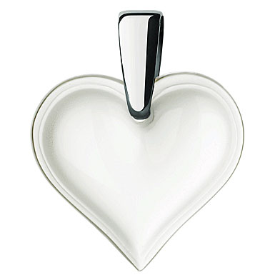 Lalique Heart Silver Clear Necklace, Large