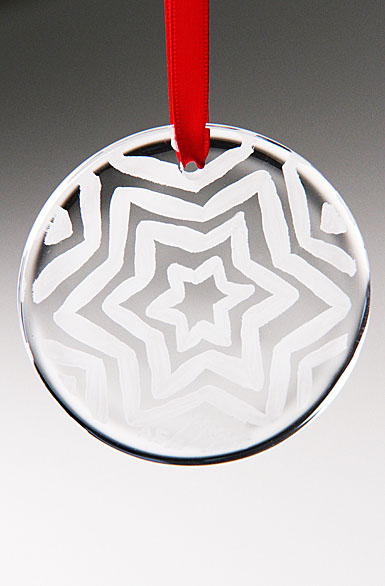 Kosta Boda Glimmer White Star Ornament