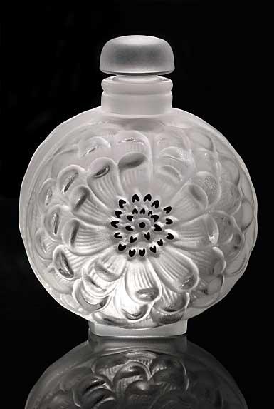 Lalique Crystal, Dahlia Crystal Perfume Bottle No. 3
