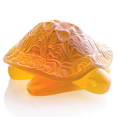 Lalique Sidonie Turtle, amber