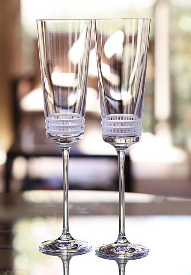 Lalique Facet Champagne Flute
