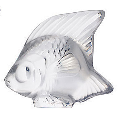 Lalique Crystal, Clear Fish Sculpture