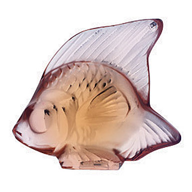 Lalique Opaque Pink Fish, #16