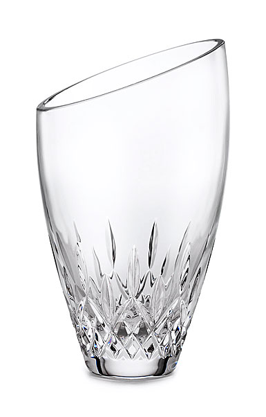 "Waterford Crystal, Lismore Essence Angled Round 9"" Crystal Vase"