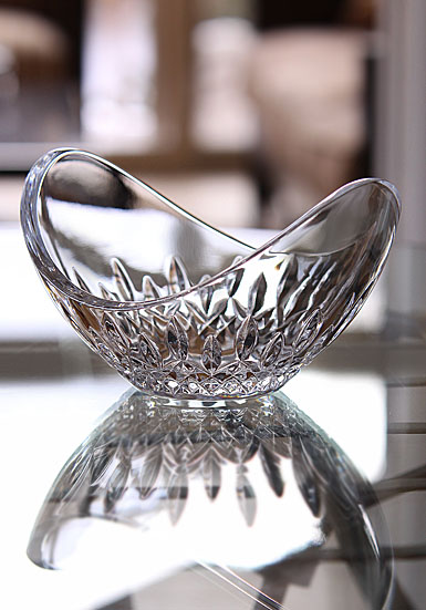 "Waterford Crystal, Lismore Essence Ellipse Shape 6"" Crystal Bowl"