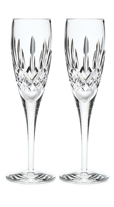 Waterford Crystal, Lismore Nouveau Crystal Flutes, Pair