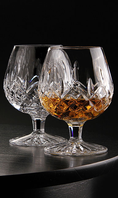 Waterford Lismore 12oz Large Brandy, Pair
