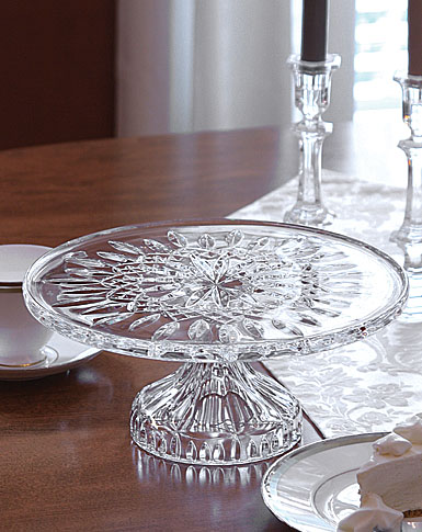... Waterford Crystal Lismore Footed 11  Cake Plate & Waterford Lismore Footed Cake Plate