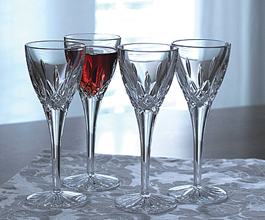 Waterford Crystal, Lismore Crystal Cordial, Set of 4