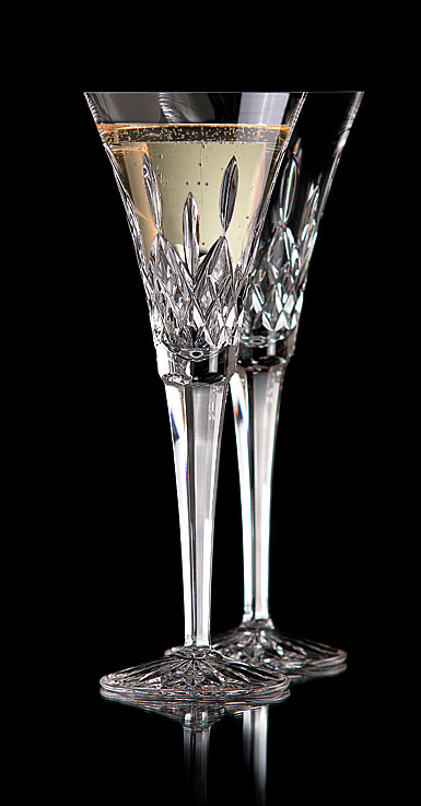 Waterford Lismore Toasting Flutes, Pair