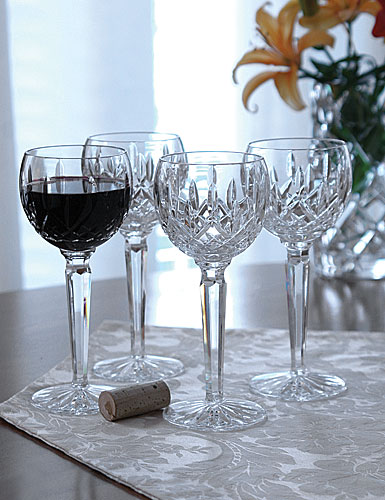 Waterford Crystal, Lismore Hock Crystal Wine Glass, Single