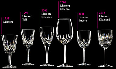 lismore timeline - Waterford Crystal Wine Glasses