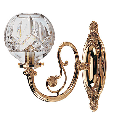 Waterford Lismore Round Wall Sconce Single, Polished Brass Finish