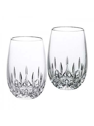 Waterford lismore nouveau stemless white wine glasses pair - Lenox stemless red wine glasses ...