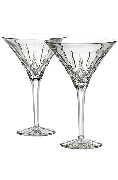 Waterford Crystal, Lismore Tall Crystal Martini, Pair