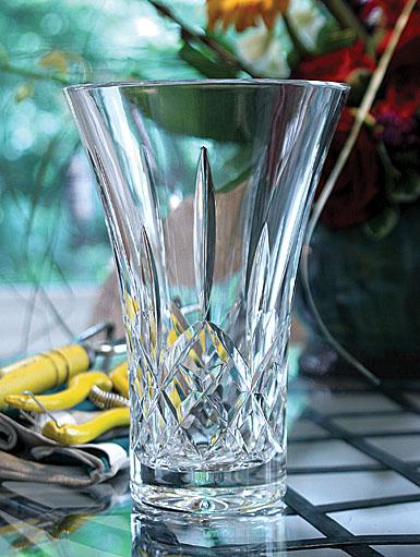 """Waterford Crystal, Lismore 8"""" Flared Crystal Vase"""