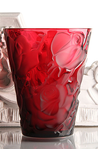 Lalique Ispahan Vase | Red