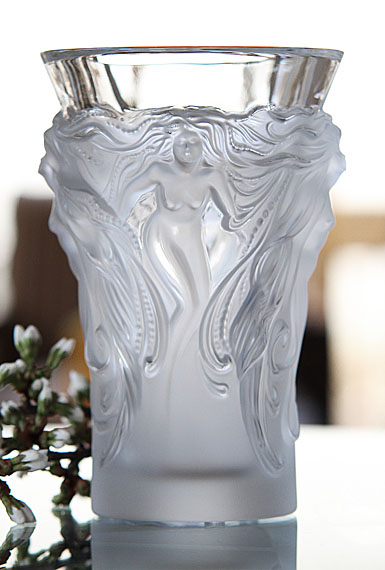 Lalique Crystal, Vase Fantasia