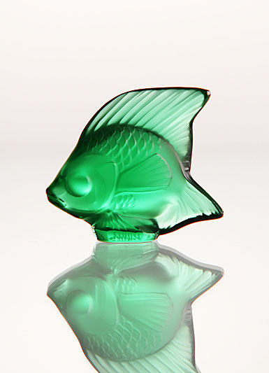 Lalique Crystal, Emerald Fish Sculpture