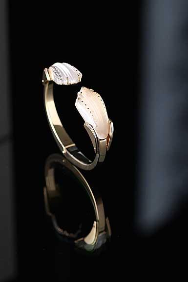 Lalique Crystal Icone Bracelet, Gold Vermeil