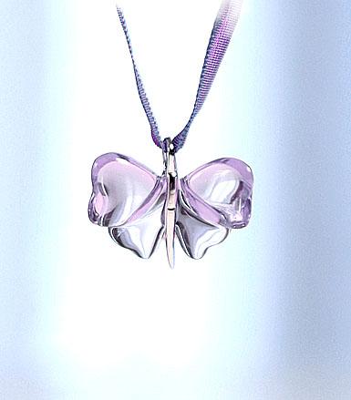Lalique Papillons Butterfly Pendant, Parma