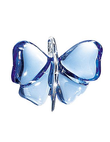 Lalique Papillon Silver Sapphire Necklace