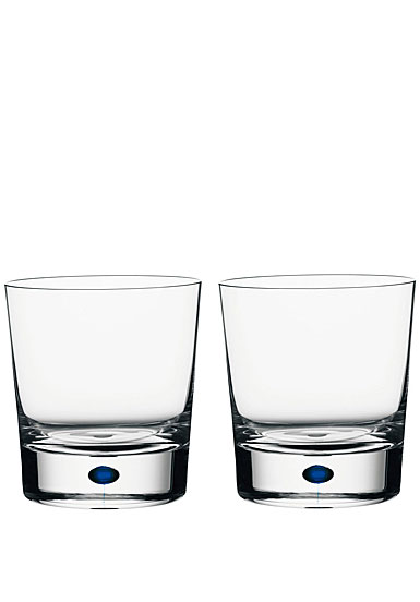 Orrefors Intermezzo Blue DOF, pair